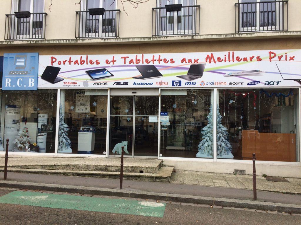 Le magasin RCB INFOMATIQUE à Versailles Noel 2016