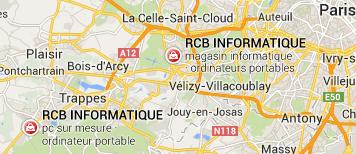 2 magasins d'informatique dans les Yvelines à Versailles et Coignières Saint Quentin en Yvelines