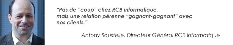 Antony Soustelle Directeur Général de l'équipe RCB Informatique