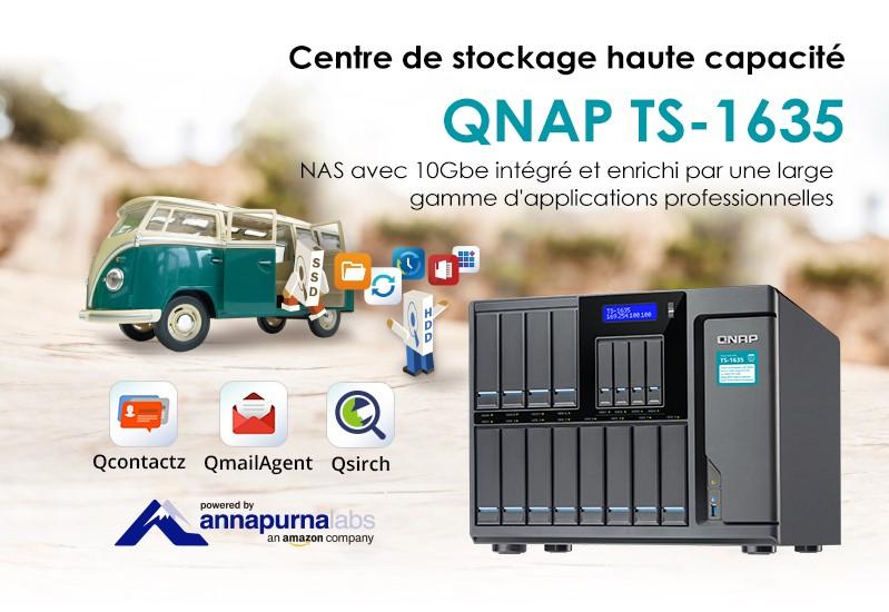 QNAP TS-1635 le NAS idéal pour les entrepreneurs et les professionnels