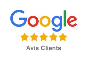 Les témoignages de satisfaction de nos clients sont publiés sur Google